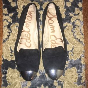 Sam Edelman Black Loafer with Silver Toe Size 9